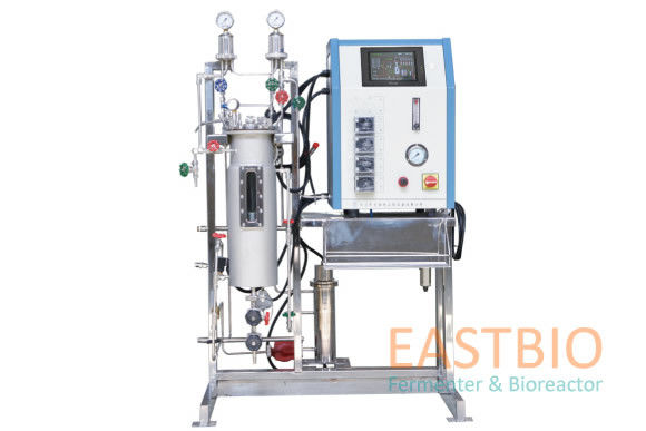 Stainless Steel Air Lift Fermenter , Industrial Bioreactors Automatic Control